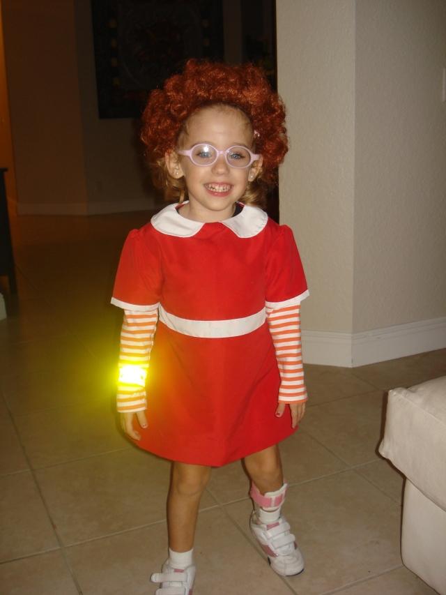 Zoe as Annie, Halloween 2012